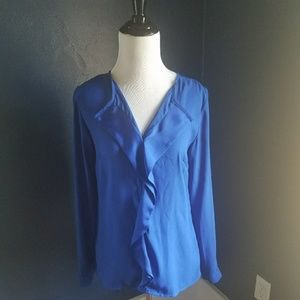 The Limited Blue Long Sleeved Blouse
